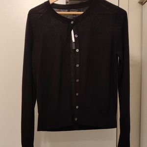 Banana Republic Black Silk Cashmere Cardigan